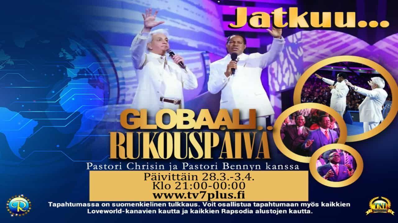 Globaali rukouspäivä saa jatkoa vielä 3.4. pe asti!